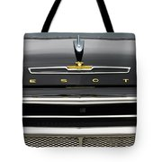 1958 Desoto Firesweep Convertible Hood Ornament Tote Bag