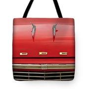 1958 Dodge Coronet Super D-500 Convertible Hood Ornament Tote Bag by Jill Reger