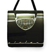 1958 Ford Fairlane 500 Victoria Hood Ornament Tote Bag
