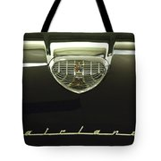 1958 Ford Fairlane 500 Victoria Hood Ornament Tote Bag by Jill Reger
