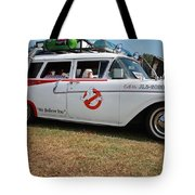 1958 Ford Suburban Ghostbusters Car Tote Bag