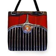 1958 Jaguar Xk150 Roadster Grille Emblem Tote Bag by Jill Reger