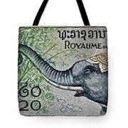1958 Laos Elephant Stamp II Tote Bag