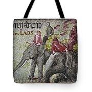 1958 Laos Elephant Stamp IIi Tote Bag