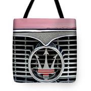 1958 Maserati Hood Emblem Tote Bag