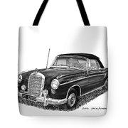1958 Mercedes Benz 220s Tote Bag