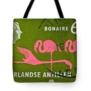 1958 Netherlands Antilles Flamingoes Stamp - Curacao Postmark Tote Bag