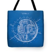 1958 Space Satellite Structure Patent Blueprint Tote Bag