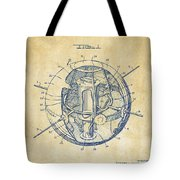 1958 Space Satellite Structure Patent Vintage Tote Bag