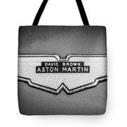 1959 Aston Martin Db4 Gt Hood Emblem -0127bw Tote Bag