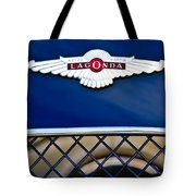 1959 Aston Martin Jaguar C-type Roadster Hood Emblem Tote Bag by Jill Reger