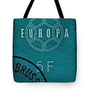 1959 Belgium Stamp - Brussels Cancelled Tote Bag