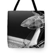 1959 Cadillac Eldorado Taillight -075bw Tote Bag