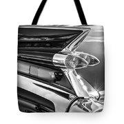 1959 Cadillac Eldorado Taillight -097bw Tote Bag
