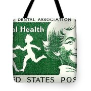 1959 Dental Health Postage Stamp Tote Bag