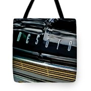 1959 Desoto Adventurer Hood Emblem Tote Bag by Jill Reger