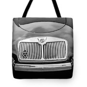 1959 Mg A 1600 Roadster Front End -0055bw Tote Bag