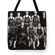 1959 University Of Michigan Basketball Team Photo Tote Bag