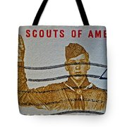 1960 Boy Scouts Stamp Tote Bag