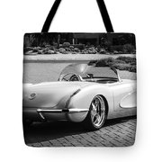 1960 Chevrolet Corvette -0880bw Tote Bag