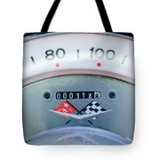 1960 Chevrolet Corvette Speedometer Tote Bag by Jill Reger