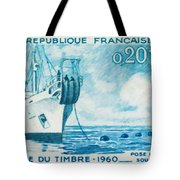 1960 Day Stamp Installation Of A Submarine Cable Tote Bag