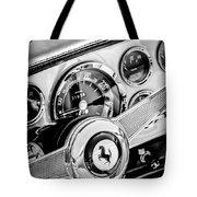 1960 Ferrari 250 Gt Cabriolet Pininfarina Series II Steering Wheel Emblem -1319bw Tote Bag