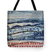 1960 First Automated Post Office Stamp Providence Rhode Island Tote Bag