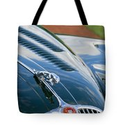 1960 Jaguar Xk 150s Fhc Hood Ornament 3 Tote Bag