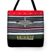 1960 Red Chevy Tote Bag
