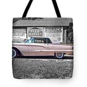 1960 Thunderbird Bw Tote Bag