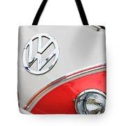 1960 Volkswagen Vw 23 Window Microbus Emblem Tote Bag by Jill Reger