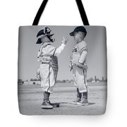 1960s Boy Little Leaguer Pitcher Tote Bag