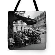 1960s Patrons At Cafe De La Paix Tote Bag by Vintage Images