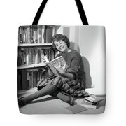 1960s Smiling Young Woman Teen Sitting Tote Bag