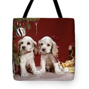 1960s Two Cocker Spaniel Puppies Tote Bag
