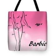 1961 Barbie Doll Patent Art 2 Tote Bag