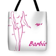 1961 Barbie Doll Patent Art 3 Tote Bag