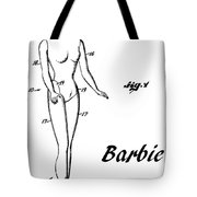 1961 Barbie Doll Patent Art 4 Tote Bag