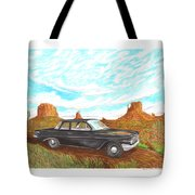 1961 Chevrolet Biscayne 409 In Monument Valley Tote Bag