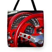 1961 Chevrolet Corvette Steering Wheel 2 Tote Bag