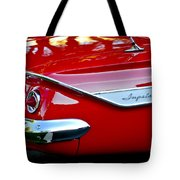 1961 Chevrolet Impala Taillight Emblem Tote Bag