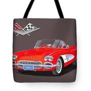 1961 Corvette Convertible Tote Bag