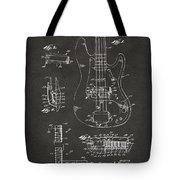1961 Fender Guitar Patent Artwork - Gray Tote Bag