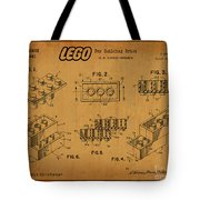1961 Lego Building Blocks Patent Art 5 Tote Bag