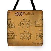 1961 Lego Building Blocks Patent Art 6 Tote Bag