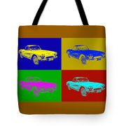 1962 Chevrolet Corvette Convertible Pop Art Tote Bag