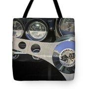 1962 Chevrolet Corvette Convertible Steering Wheel Tote Bag