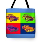 1962 Chevrolet Corvette Pop Art Tote Bag