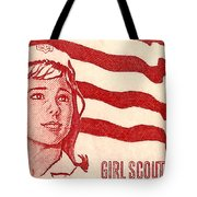 1962 Girl Scouts Of America Postage Stamp Tote Bag